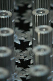 Gear. Cogwheels in factory stock photo
