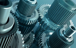 Gear_9. Backgrounds  gears engineering technology backdrop Royalty Free Stock Image