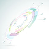Gear abstraction colorful bright background Royalty Free Stock Image