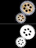 Gear alpha channel transparent metal mechanic machine engineering steel wheel Stock Image