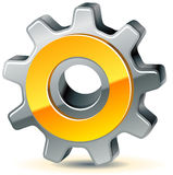 Gear as preferences icon Royalty Free Stock Image