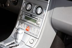 Gear automatic lever in the modern car in detail Interior. A gear automatic lever in the modern car in detail Interior stock images