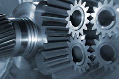 Gear-axle with smaller gears Royalty Free Stock Photo