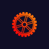 Gear background icon Stock Image