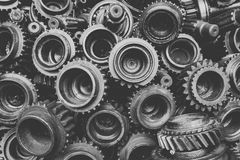 Gear background in soft black and white Royalty Free Stock Images