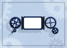 Gear background  - cdr format Royalty Free Stock Image