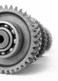 Gear with ball bearing. On isolated white background Stock Photography