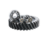 Gear And Ball Bearings Royalty Free Stock Photos