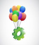 Gear and balloons illustration design Stock Image