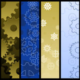 Gear banners Royalty Free Stock Images