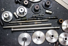 Gear and Bearing for machine. A gear and Bearing for machine Royalty Free Stock Photo