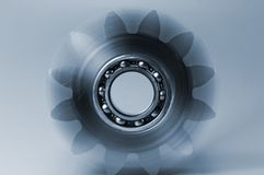 Gear and bearing in motion Royalty Free Stock Photos