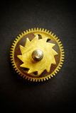 Gear on a black background Royalty Free Stock Images