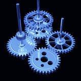 Gear - Blue Chrome Stock Photos