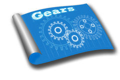 Gear blueprint Stock Image