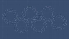 Gear Blueprint Stock Photo