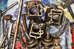 Gear box and auto parts Stock Photos