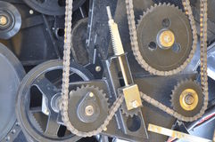 Gear box with cog wheels Stock Images