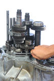 Gear box repair work Stock Photo