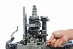 Gear box service Royalty Free Stock Photo