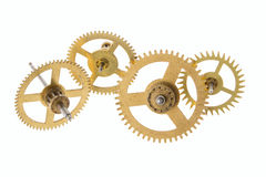 Gear from the broken clock Royalty Free Stock Photo