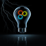 Gear in a bulb Royalty Free Stock Images