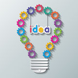 Gear bulb Stock Image
