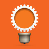Gear Bulb Copyspace Stock Images