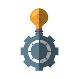 Gear bulb icon image. Illustration design Royalty Free Stock Photos
