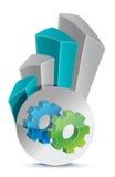 Gear Business graph Stock Photo