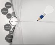 Gear business success chart Royalty Free Stock Photos