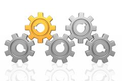 Gear business work stock photography
