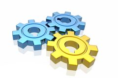 Gear business work concept Stock Images