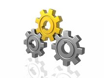 Gear business work, golden pinon Stock Photos