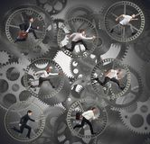 Gear businesspeople Stock Images