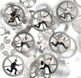 Gear businesspeople Stock Photography