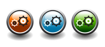 Gear button icons Stock Photo