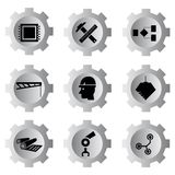 Gear buttons Royalty Free Stock Photos