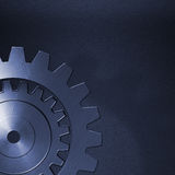 Gear on the carbon metallic wall. home decoration. Royalty Free Stock Image