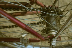 Gear chain and spokes bike Royalty Free Stock Image