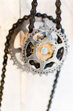 A gear with chains Stock Photo