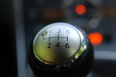 Gear change knob Royalty Free Stock Image