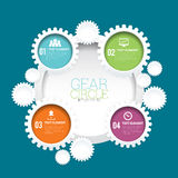 Gear Circle Infographic Royalty Free Stock Photography