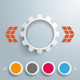 Gear 4 Circles Template Design Royalty Free Stock Image