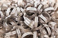 Gear clamps in bin Stock Image