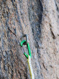 Gear for climbing in the mountains. Royalty Free Stock Photography