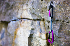 Gear for climbing. Royalty Free Stock Photography
