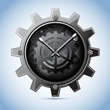 Gear Clock Royalty Free Stock Photography