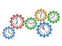 Gear clock background Stock Photos