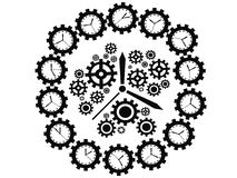 Gear clock Stock Image